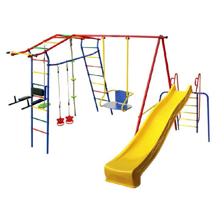 Детский спортивный комплекс Игромания-3 Пресс дачный с горкой КМС-423