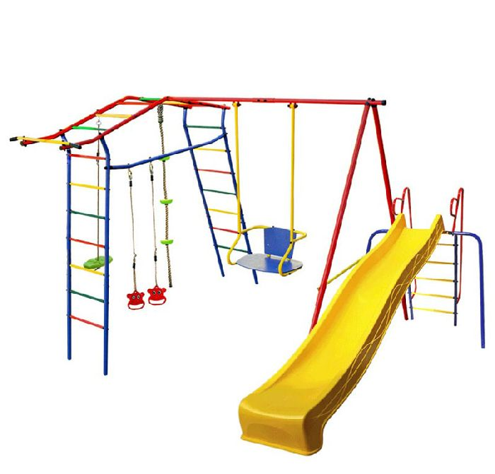 Детский спортивный комплекс Игромания-5 Фитнесс дачный с горкой КМС-425