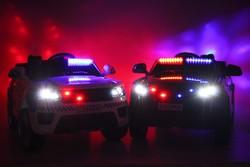 Полиция E555KX детский электромобиль на резиновых колесах