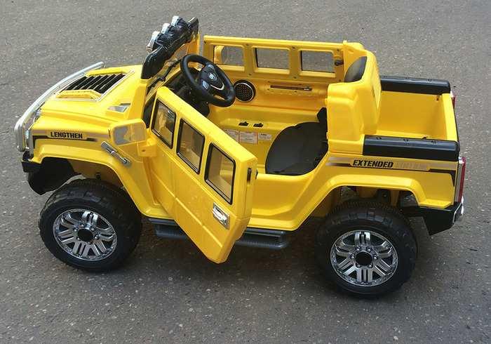 Детский электромобиль джип с пультом JJ-255 Hummer H3