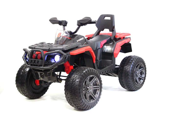К111КК квадроцикл для детей с кожаным сиденьем, колеса резиновые