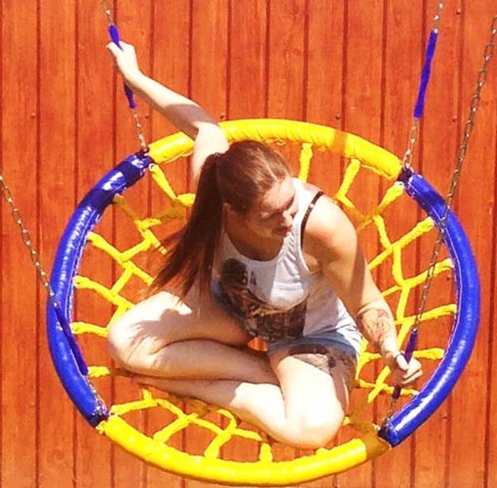 Веселый НЕПОСЕДА Качели ГНЕЗДО диаметр 1,0 метра