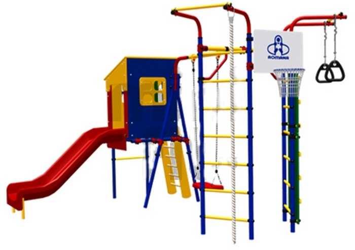 Детский игровой комплекс для дачи Карусель 3.3.14.21 Скалодром-14 с домиком