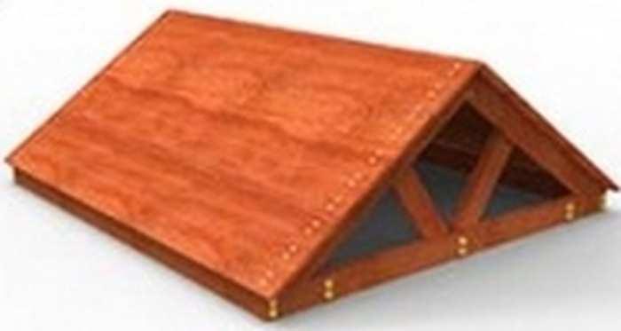 Крыша деревянная для ДИП Самсон