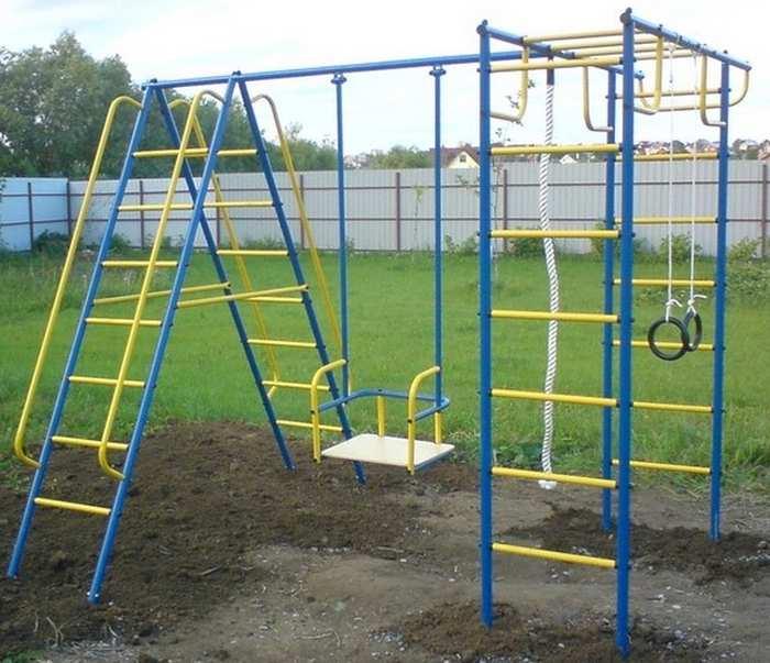 Детский спортивный комплекс Лидер Д1-01 качели для дачи с подшипником
