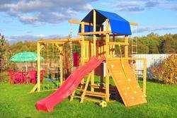Мадрид-2 деревянная детская площадка для дачи