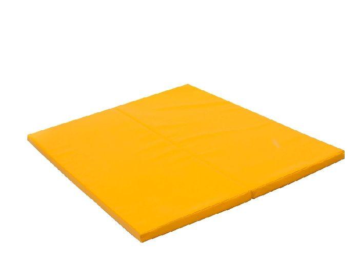 Гимнастический мат складной PERFETTO SPORT №14 (дшв) 100×123×4 см желтый