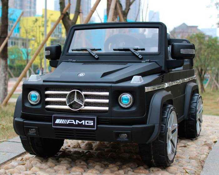 Детский электромобиль джип Mercedes Benz G-55 amg VIP матовый на резиновых колесах