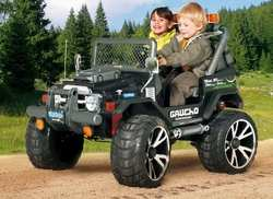 Двухместный Peg Perego Gaucho Super Power детский электромобиль джип на аккумуляторе