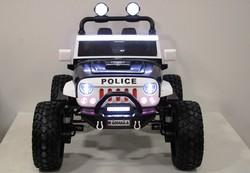 Jeep A 004 AA-А Police двухместный электромобиль для детей на резиновых колесах