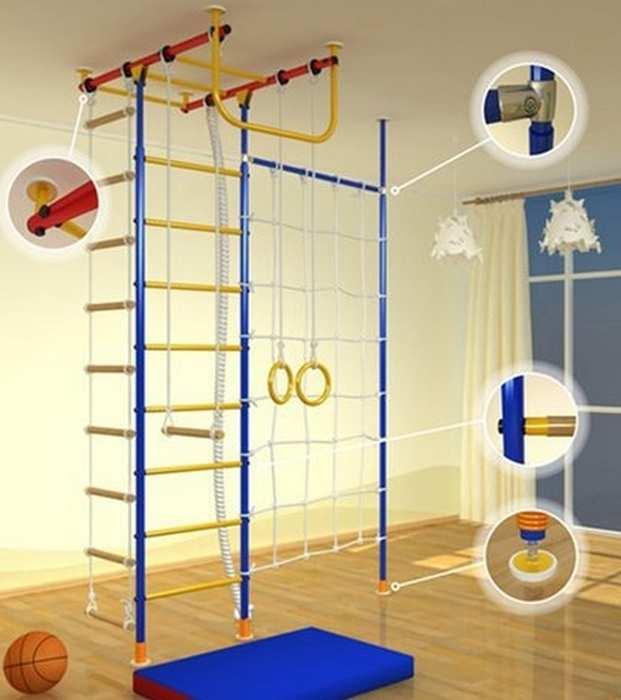 ДСК Самсон-12 спортивный домашний комплекс с сеткой