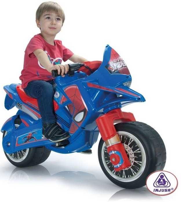 Детский аккумуляторный мотоцикл INJUSA 6V Claws Ultimate Spider-Man 64760