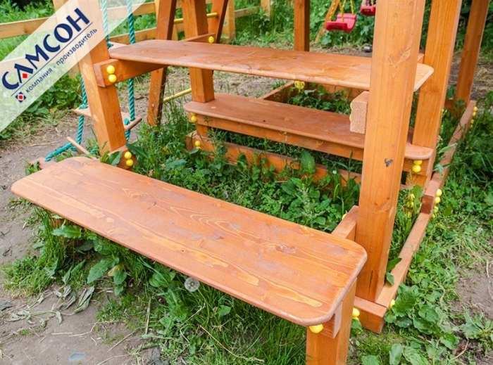 """Столик с 2-мя лавочками для ДИП """"Бретань"""""""