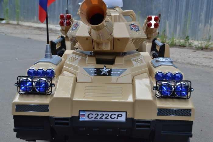 Электромобиль детский танк для мальчиков С 222 СР пульт ДУ