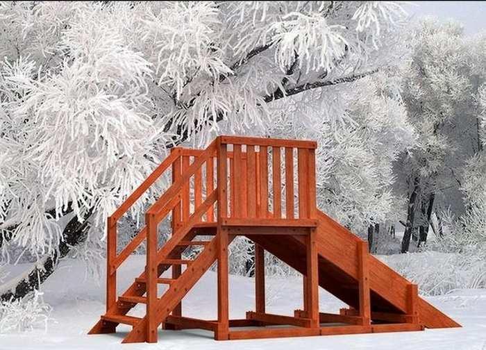 Зимняя горка Самсон Урал