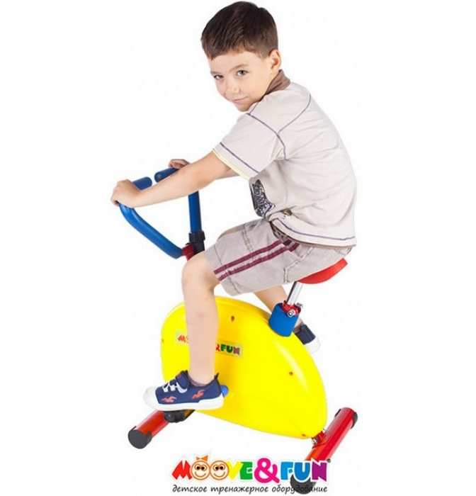 Тренажер детский механический Велотренажер. Детский велотренажер Moove Fun TFK-02/SH-02