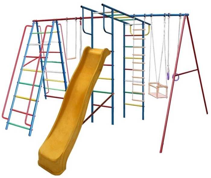 ДСК Вертикаль А1+П МАКСИ с горкой детский спортивный комплекс дачный