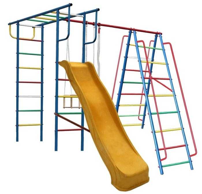 ДСК Вертикаль А1+П с горкой для дачи детский спортивный комплекс дачный