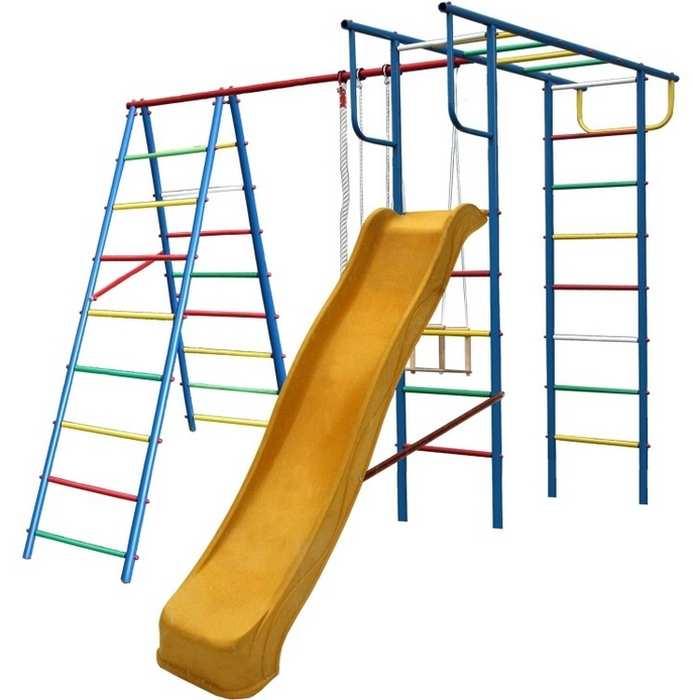 ДСК Вертикаль А+П с горкой детский спортивный комплекс дачный